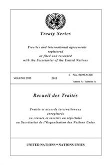 TREATY SERIES 2952