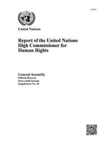 GAOR 69TH SUPP36 OHCHR RPT