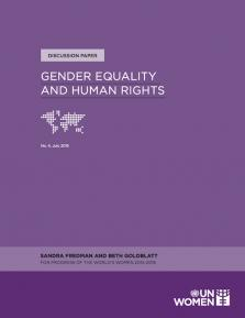 GENDER EQUALITY HUMAN RIGHTS