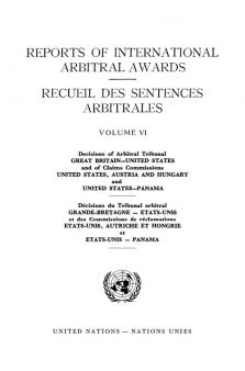 RPT INTL ARBITRAL AWARDS #6