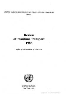 REVIEW MARITIME TRANS 1985