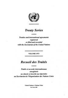 TREATY SERIES 1973