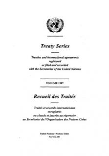 TREATY SERIES 1987