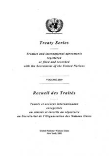 TREATY SERIES 2019
