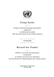 TREATY SERIES 2049 I 35394-35426