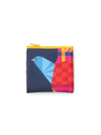 An image of a water resistant colourful dove of peace bag that conveniently folds into a pouch. Can hold up to 44 lbs.