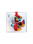 An image of a colourful dove of peace in a circular ceramic ornament with the word peace in 6 UN languages. Comes in beautiful gift box.